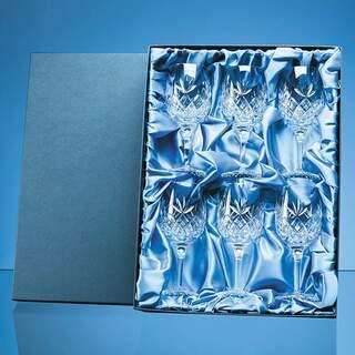 6pc 280ml Blenheim Lead Crystal Full Cut Goblet Gift Set
