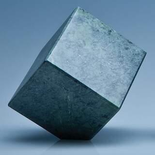 7cm Green Marble Bevel Edged Cube