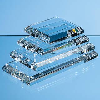 10cm x 7.5cm Clear Glass Base