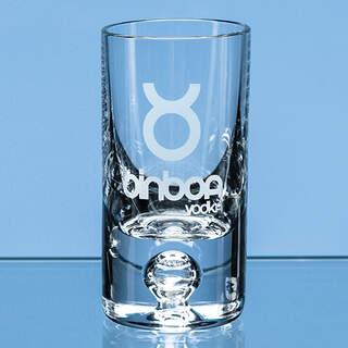 30ml Tall Bubble Base Shot Glass